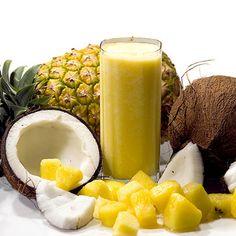 Pineapple Coconut Smoothie Ingredients:  pineapple-coconut-smoothie-recipe    pineapple-coconut-smoothie        2 cups pineapple Juice      1 cup Pineapple, sliced      1/2 cup grated coconut      1 cup coconut milk      1 cup Ice-Cubes