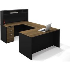 Shop Bestar Pro Concept U Shaped Workstation With Small Hutch At Loweu0027s  Canada. Find Our Selection Of Home Office Furniture Sets U0026 Suites At The  Lowest ...