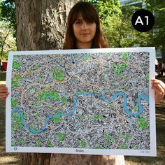 Image of Hand Drawn Map of London