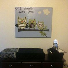 The Curvy Life: DIY Nursery Wall Art