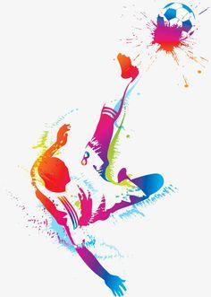 Soccer Art, Soccer Poster, Football Art, Soccer Theme, Man Clipart, Football Wallpaper, Sports Art, Sports Decor, Football Players