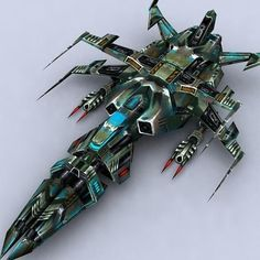 3DRT - Sci-Fi Fighters Fleet - Fighter 4 3D Model Game ready - CGTrader.com