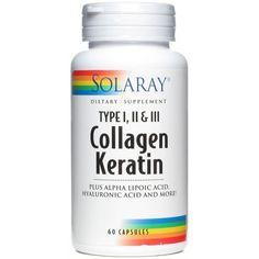 Collagen Keratin de Solaray es un complemento nutricional que combina ingredientes naturales fundamentales para mantener una correcta salud la piel evitando su envejecimiento prematuro.