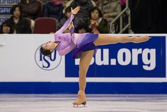 Yuka Nagai of Japan skates while competing during the Ladies Short Program on day one of Skate Canada International ISU Grand Prix of Figure Skating...