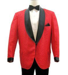 Vintage 60s 70s Dinner Jacket Men's Tux by VogueVintageMenswear #red #smoking…