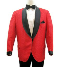 Vintage 60s 70s Dinner Jacket Men's Tux by VogueVintageMenswear #red #smoking…