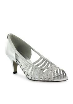 Easy Street Silver Glitter Sparkle Evening Shoe