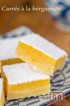 Carrés à la bergamote - Macaronette et cie