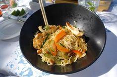 . Japchae, Ethnic Recipes, Food, Meal, Essen, Hoods, Meals, Eten