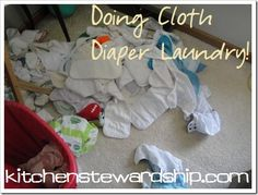 Cloth Diapers Doing Laundry