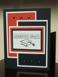 Masculine Graduation by stampinchampin - Cards and Paper Crafts at Splitcoaststampers