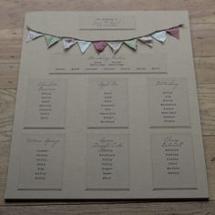 Bunting Wedding Invitations | Must be FeteTo Have  To Hold