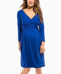 Look at this #zulilyfind! Royal Blue Divine Maternity/Nursing Dress #zulilyfinds