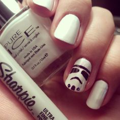 An Onion Exposed: Stormtroopers Nail Art w/Sharpies