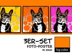 ((( Französische Bulldogge 2 ))) Retro-Design -...