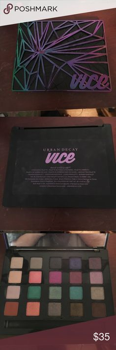 Urban decay vice 4 palette This is a lightly used limited edition palette! I do love it but I don't use it a ton. However, it's not something I'm dying to sell so price is final! Urban Decay Makeup Eyeshadow