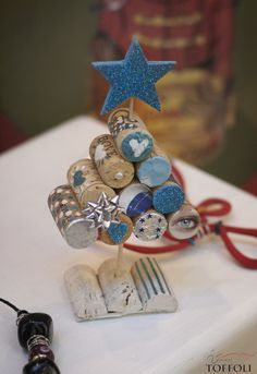 Albero #Natale con tappi di #sughero #corks