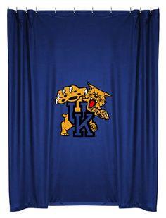 NCAA Kentucky Wildcats College Bathroom Shower Curtain