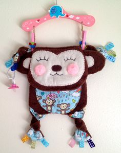 Cute Soft Minky Security Bear Baby Kids Blanket by SewDPopShop