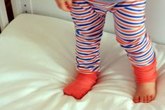 sew: fold-over cuffs for footies (or mittens!) || things for boys