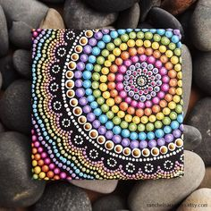 Rainbow Aboriginal Dot Art Painting by Biripi by RaechelSaunders