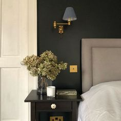 Hanson Wall Light in Old Gold featured by Natali in Norfolk Floating Nightstand, Wall Lights, Interior Design, Bedroom, Table, Furniture, Norfolk, Home Decor, Mood