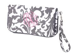 Wristlet Monogramed on Etsy, $22.95 Great item for teens. Or bridesmaids comes in a variety of colors. www.etsy.com/shops/celebrationstitches