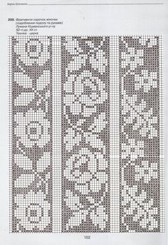 "This material from Anastasia Marusik's book ""The Bar … – knitting charts Fair Isle Knitting Patterns, Knitting Charts, Knitting Stitches, Crochet Patterns, Cross Stitch Borders, Cross Stitch Flowers, Cross Stitch Patterns, Filet Crochet Charts, Crochet Diagram"