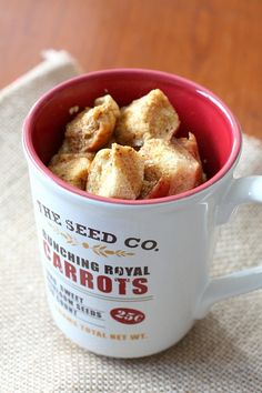French Toast in a Mug (also Mac + Cheese in a mug)  *try in pampered chef microwave egg cooker