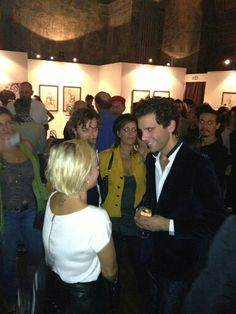 Mika and italian singer Emma Marrone @ his album launch in Milan