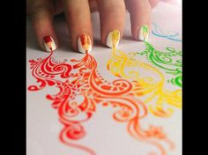 Currently browsing Inspiriting Creative Color Pencil Drawings by Kristina Webb for your design inspiration Love Nails, How To Do Nails, Fun Nails, Pretty Nails, Easy Nails, Cool Nail Art, Cool Art, Nice Art, Nail Art Designs