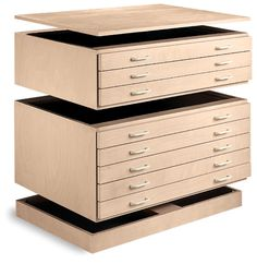 from Dick Blick, customizable flat files that are unfinished