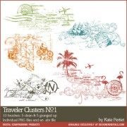 Traveler Clusters No. 01 Brushes and Stamps