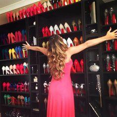 My dream shoe closet. All Louboutin! Christian Louboutin, Louboutin Shoes, Talons Sexy, Pumps, Stilettos, Red Bottoms, Dream Shoes, Shoe Closet, Closet Redo