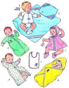 1970s Baby Layette Pattern Simplicity 6907 Dress by paneenjerez, $10.00