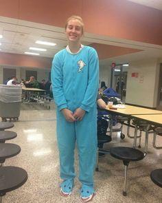"""I wore this onesie because I look good in it."" - Kate Lewendowski"