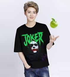 Fashion Unisex Joker Printed Short Sleeves Sports T-shirt - Cosplay Costume Sports Trousers, Trouser Pants, Joker Costume, Cosplay Costumes, Sport Shorts, Sport T Shirt, Long Sleeve Bodysuit, Cotton Style, Workout Leggings
