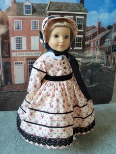 Marie Grace Historical 1850s Dress / Clothes for American Girl Dolls