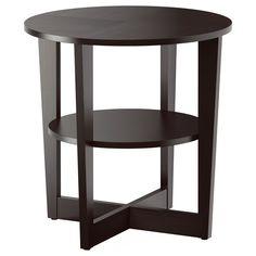 ikea vejmon side table black brown - Side Tables Ikea