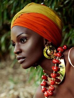 Blending scarves and colors means you can mix and match headwraps to compliment any outfit.