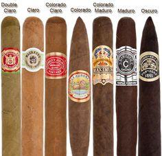 Cigar color chart.