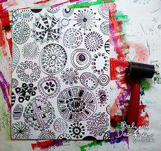 Art Journal Every Day: Scratch Foam Prints Julie Balzer