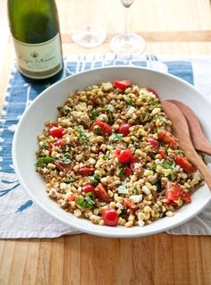 Recipe: Grain Salad with Tomatoes, Corn and Basil