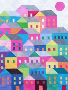 Summer In the City by SpellboundQuiltArt on Etsy