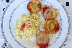 Ροδέλες βακαλάου με λαχανικά στο φούρνο