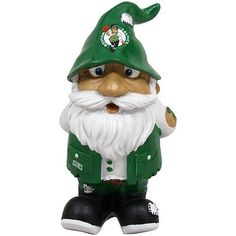 Boston Celtics Stumpy Garden Gnome by Forever Collectibles. Save 1 Off!. $9.95. 8 inches tall. Hand painted. Resin. Full team colors. Great for the garden or inside. These new roaming Garden Gnomes are ready for your garden! These 8 inch tall figures are made of a resin material and come to you with full team colors and team specific logos. They are cute, fun and love to travel from time to time! They are perfect for your garden, patio, desk or shelf. Made by Forever Collectibles.