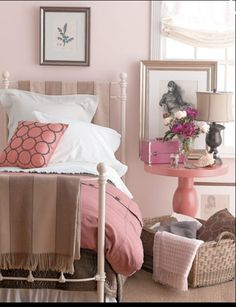 Pink and taupe