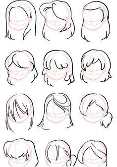 Cartoon Hair, Cartoon Girl Drawing, Manga Drawing, Cartoon Drawings, Cute Drawings, Drawing Techniques, Drawing Tips, Easy Hair Drawings, Realistic Cartoons