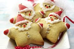 Easy way for kids to make a santa cookie!