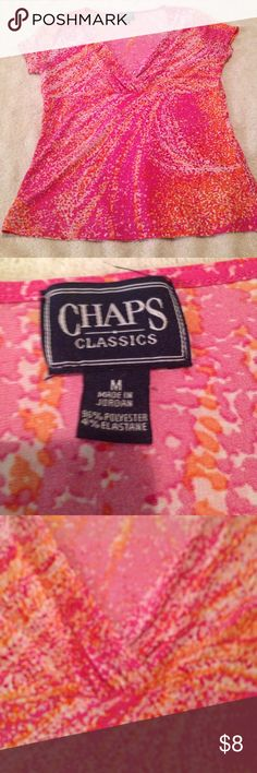 """✨ORIGINAL CHAPS TOP✨ Bust:38"""" Length: 22"""" (STRETCHY). In great condition Chaps Tops Blouses"""
